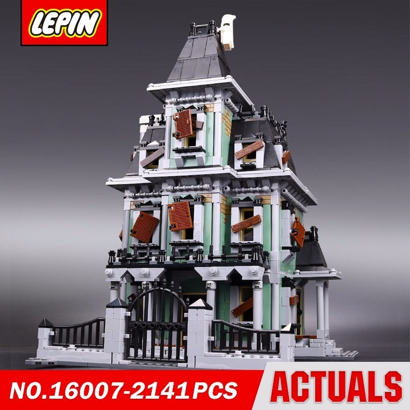 Lepin 16007 Theme Architecture Monster Fighter The Haunted House 10228 Movie Series Model Building Block Brick Kits Toys lepin 16007 2141pcs monster fighter the haunted house model set building kits model compatible with 10228 educational toys gifts