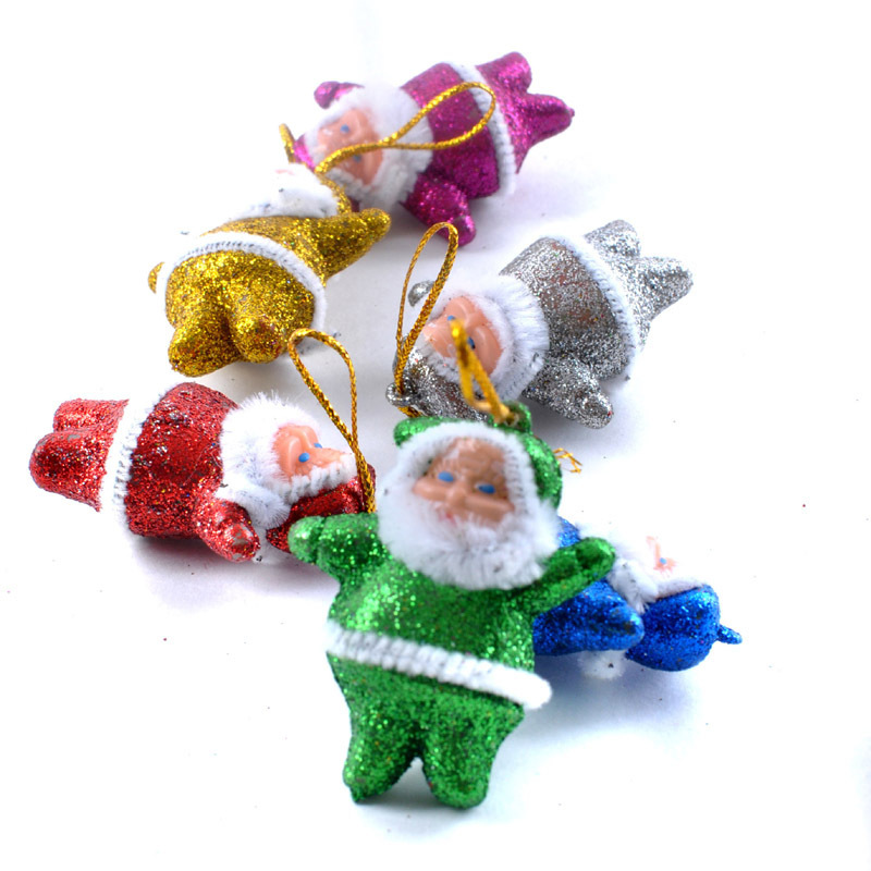 nueva llegada unids decoracin de navidad de santa mueco de nieve colgantes del rbol de