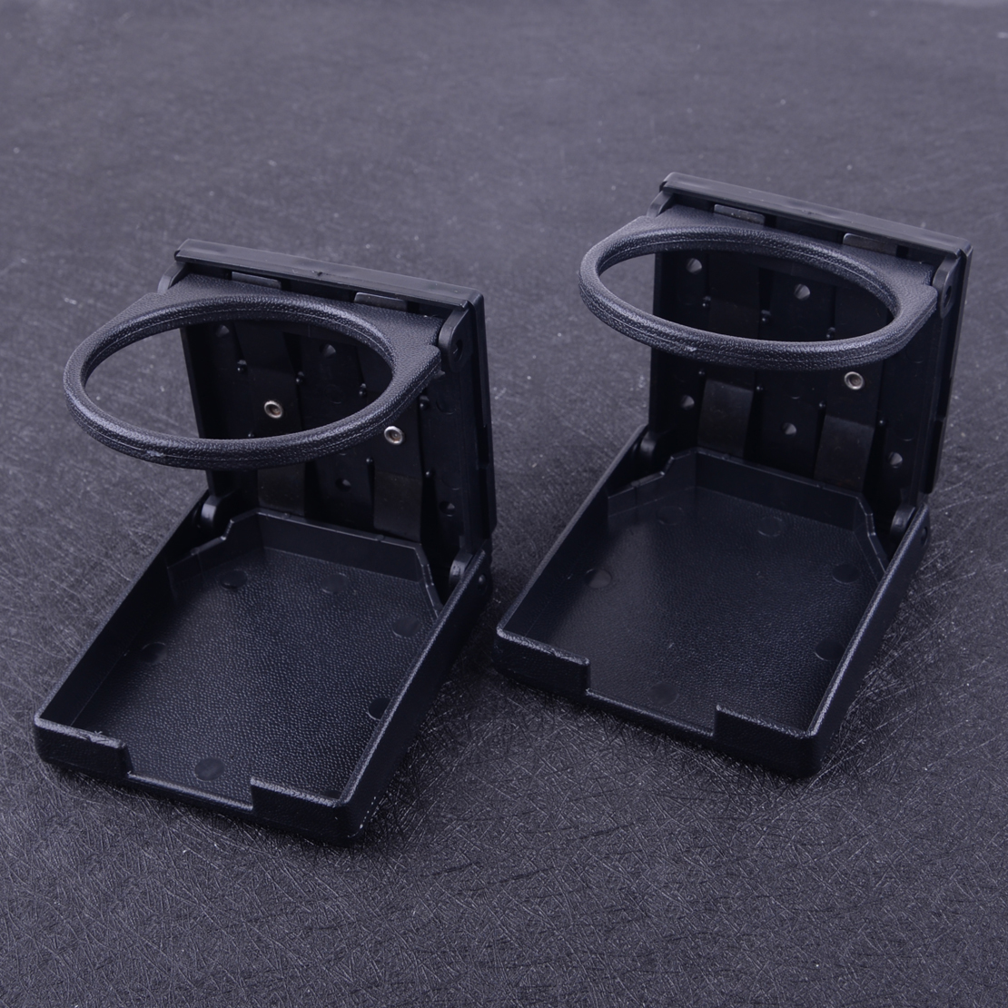 Dwcx 2 pçs preto universal ajustável dobrável