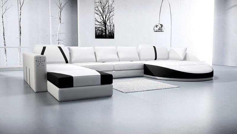 divano ad angolo in pelle bianca-acquista a poco prezzo divano ad ... - Soggiorno Ad Angolo Moderno 2