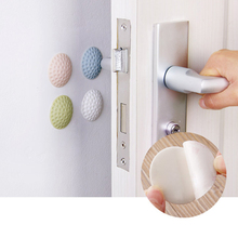 1 PCS Self Adhesive Circular Wall Protectors Door Handle Bumpers Buffer Guard Stoppers Rubber Silencer Crash Pad Doorknob Lock