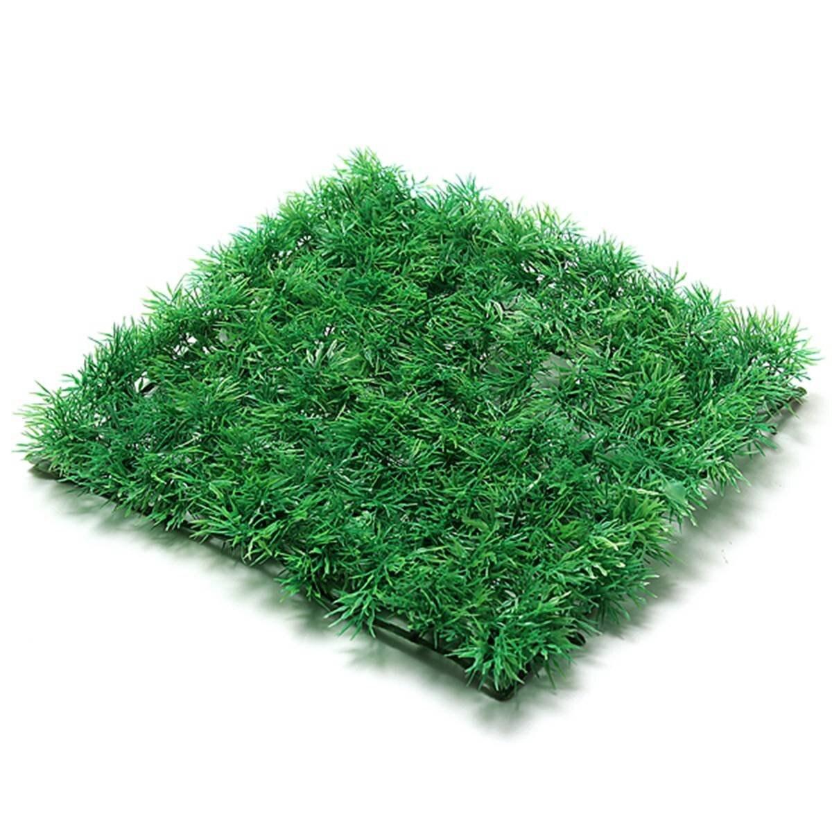 Artificial Plastic Grass Lawn Aquarium Garden Decor Seedings Flower Lawn Miniature Landscape Ornament 25cmX25cm