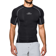 Black Quick Dry Running T-shirt Tight Sport Solid Short Sleeve Gym Top Tee Clothing Mens Sportswear