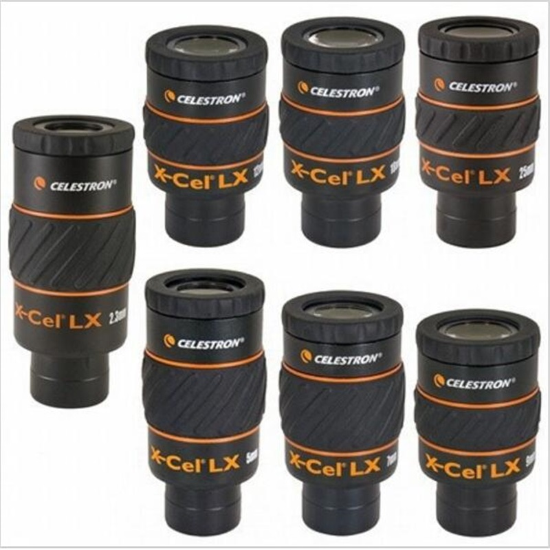 CELESTRON   X-CEL LX 7mm wide-angle high-definition large-caliber high-powered telescope eyepiece accessories accessories stereomicroscope special wide angle 10x eyepiece with 20 times the measured differential reticle
