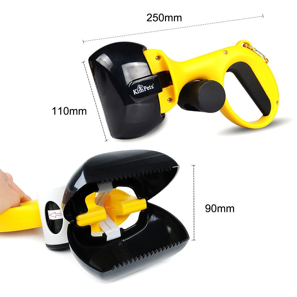 NICEYARD 2 In 1 Pick Up Holder Outdoor Waste Cleaning Tools with 1 Roll Poop Bags Pet Pooper Scooper Pet Accessories 5