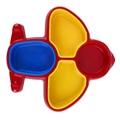 Детская Посуда Самолет Форме Детские Блюда Яркие Цвета Детские Посуда Милый Блюда Окружающей Среды ABS Ребенка Чаша
