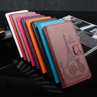 Xiaomi Redmi 4 Pro Case Luxury Flower Tower Embossing Leather Wallet Flip Protective Cover For Redmi