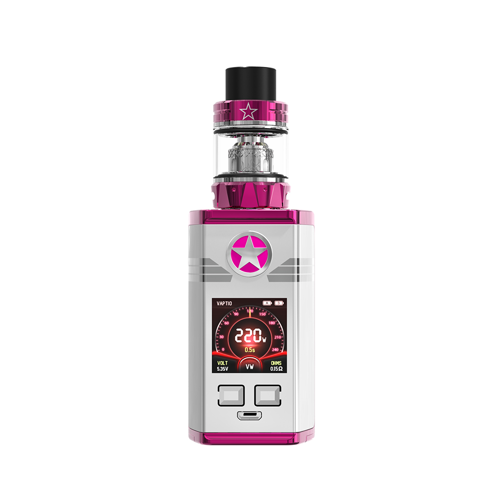 Authentic Electronic Cigarette Vaptio CAPT'N Kit 2.0ml/4.0ml AtomizerTop filling with 220w box mod Fitted TFV8 Baby/TFV12 Tank