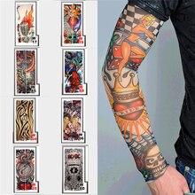 Поддельные Временные татуировки рукава рука мужчины и женщины классные татуировки рукава унисекс полный длинный скольжения на чулок для руки дизайн Горячая рука грелка