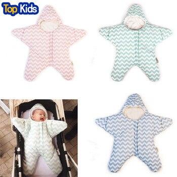 2020 Baby sleeping bag star shape winter warm stroller sleeping bag for newborn striped cotton baby sleeping bag retail CR082 1