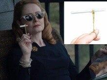 vintage Metal Ring Cigarette Holder Finger Rack For Womens Slim / Mans Regular With gift box