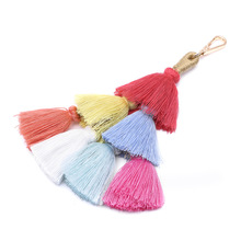 Hot Sale Fashion Charm Handmade Cotton Tassel Pendant Bohemian Europe And America Bag Hanging Accessories DropShipping