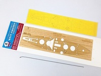 Dock wood deck 1/700 West Buddha wood deck covered with cover paper + anchor chain Assembly model Toys