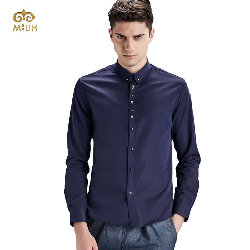 Mens navy blue dress shirt great ideas for fashion for Blue dress shirt outfit