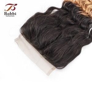 Image 4 - Bobbi Collection T 1B 27 Vetersluiting Ombre Honing Blond Donker Bruin Kleur 2 Kleur 4 Diepe Golf Braziliaanse Non  Remy Human Hair