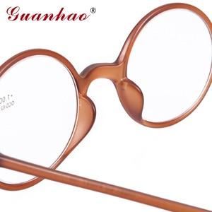 Image 4 - Guanhao marca moda retro óculos de leitura das mulheres dos homens ultraleve sem aro óculos de leitura hd resina computador acessórios