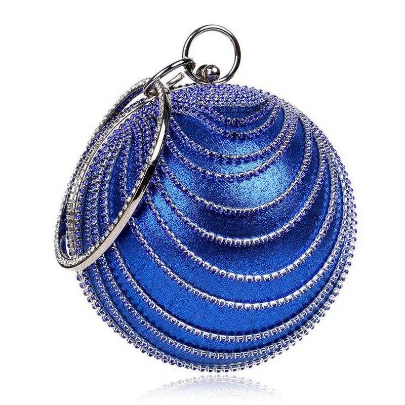 Bola Redonda de Perlas de Diamantes de lujo Bolsos de Tarde Del Monedero Totes d