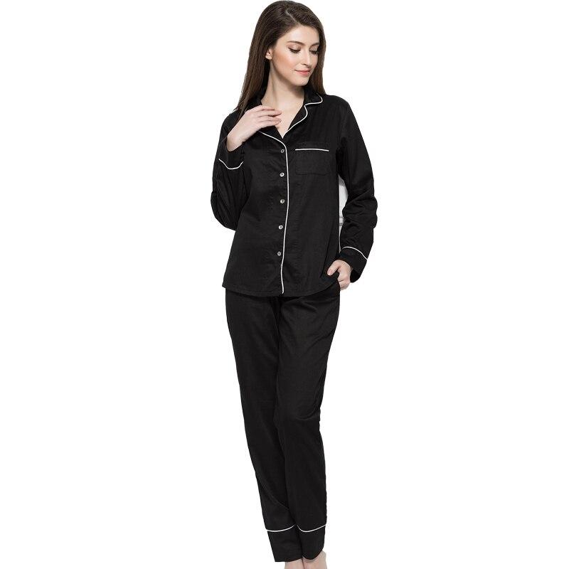 Autumn Women Ladies Sexy Satin Silk   Pajamas     Sets   Long Sleeve Tops+Pants Sleepwear Modal Nightwear   Pajama