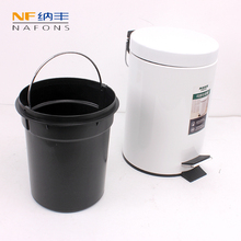 3L Round Trash Can Kitchen Living Room Office Garbage Dust Bin Car Trash Bin Bathroom Storage Rubbish Bucket Storage Box