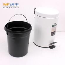 цена на 3L Round Trash Can Kitchen Living Room Office Garbage Dust Bin Car Trash Bin Bathroom Storage Rubbish Bucket Storage Box
