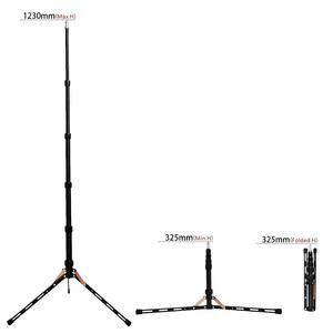 Image 2 - Fosoto FT 140 support de lumière Led trépied Portable pour éclairage photographique Flash parapluies réflecteur Photo Studio appareil Photo téléphone