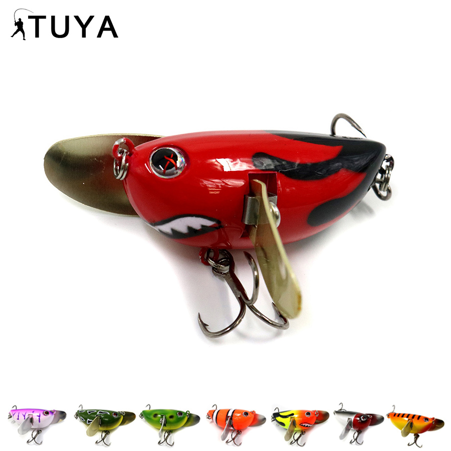 TUYA 8pcs set Floating Topwater Popper Fishing Lures whopper plopper Metal Wobblers Minnow Hard Lure troll