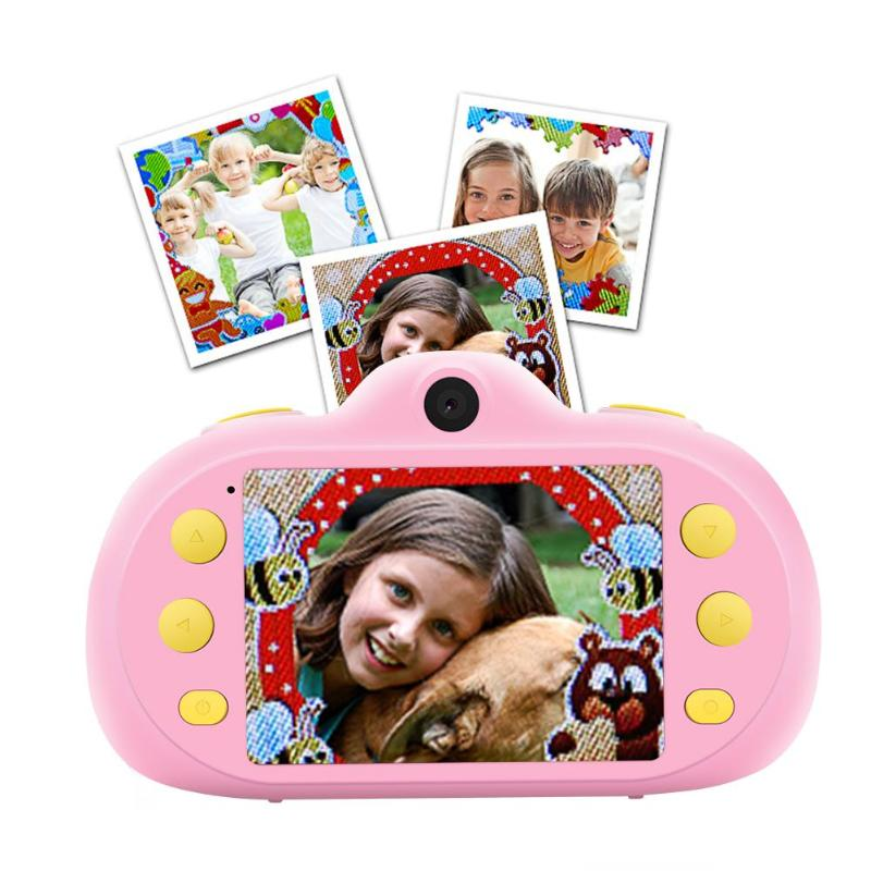 ALLOYSEED Kids Digital Cameras GM10 2.4 inch Dual Lens HD 1080P 4X Zoom Camcorder Point Shoot Camera Toys for Children Xmas Gift