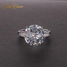 OneRain Classic 100% 925 srebro cytryn różowy szafir Moissanite kamień pierścionki na przyjęcie biżuteria hurtowych