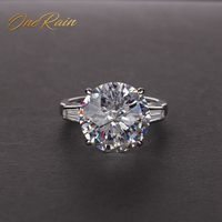 OneRain Classic 100% 925 Sterling Silver Citrine Pink Sapphire Moissanite Gemstone Engagement Cocktail Rings Jewelry Wholesale