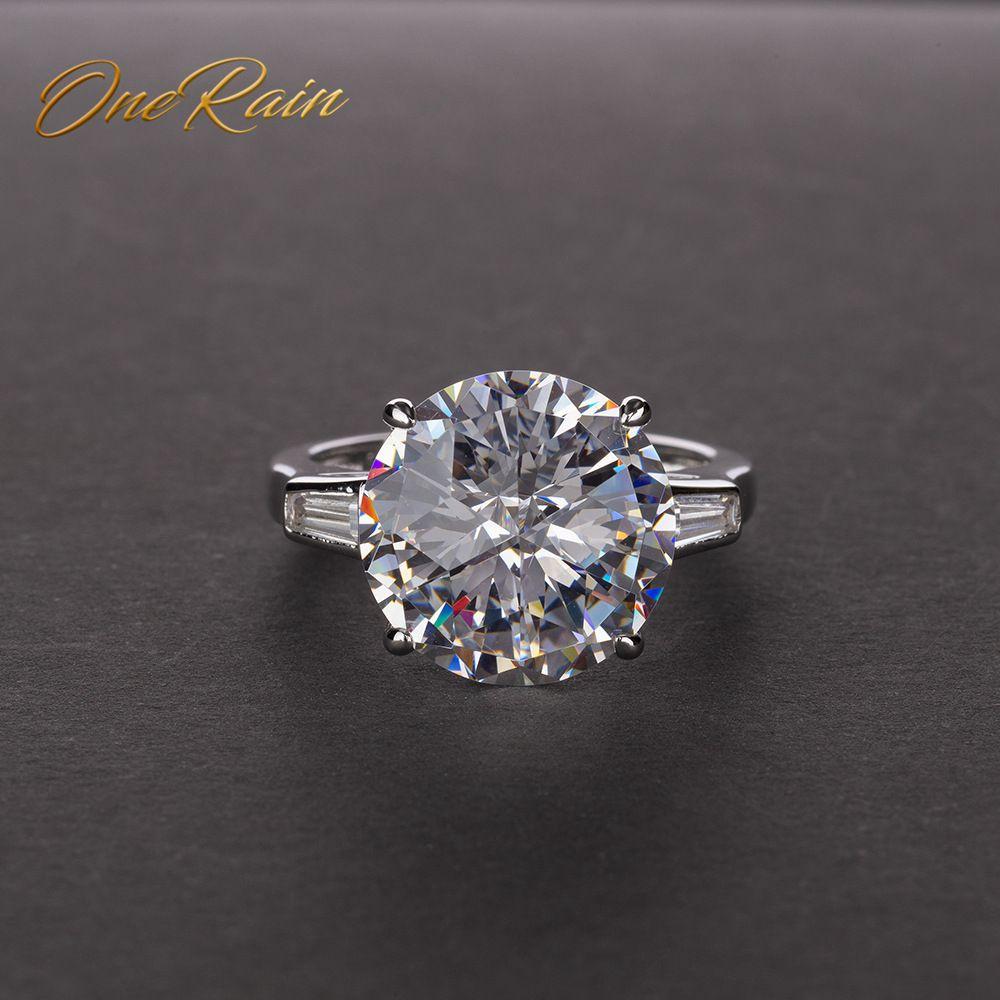 OneRain classique 100% 925 argent Sterling Citrine rose saphir Moissanite pierres précieuses fiançailles Cocktail anneaux bijoux en gros