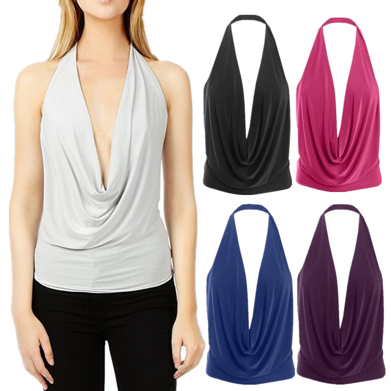 New Style Fashion Women Sleeveless Vest V-necked Tops Hot Irregular Fashion Women Summer