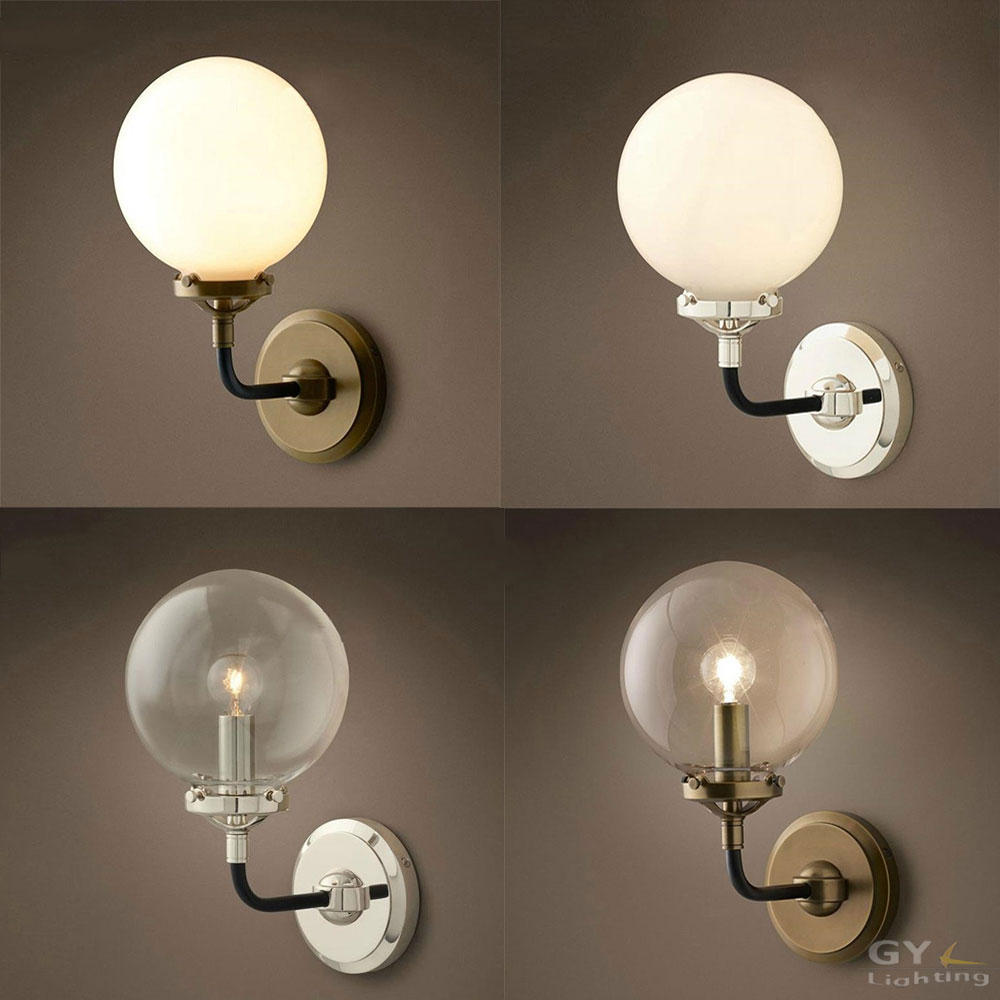 2017 new Nordic  Art decor Vintage LED luminaire wall lamp lampen lights glass globe ball Beanstalk lampshade shade led sconce novelty led wall lamps glass ball wall lights for home decor e27 ac220v