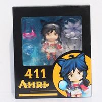 4 10cm Nendoroid LOL Ahri Toy Figure LOL PVC Action Figures Doll Toys 411 Box Packaged