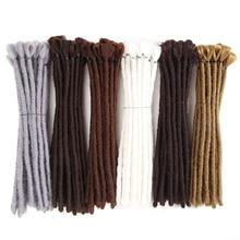 SAMBRAID Kurze Dreads Häkeln Braid Haar Handgemachte Dreadlocks Haar Extensions 12 zoll Reggae Synthetische Haar Flechten Haar Für Männer