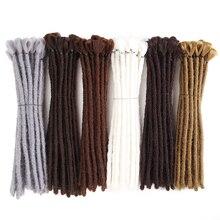 SAMBRAID kısa Dreads örgü saç el yapımı Dreadlocks saç ekleme 12 inç Reggae sentetik örgü saç peruk erkekler için saç