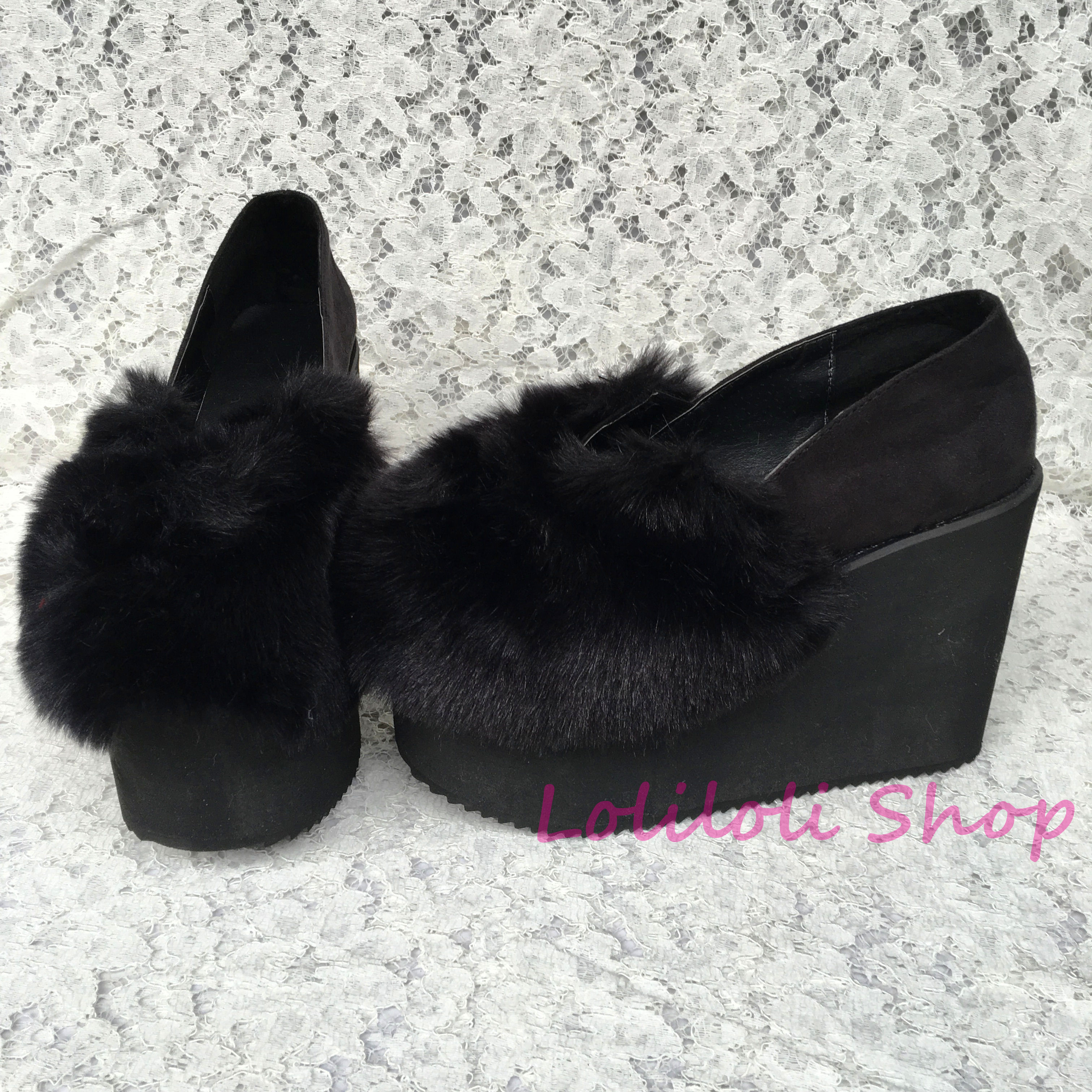 Princess sweet lolita shoes Lolilloliyoyo antaina Japanese design cos shoes custom thick bottom black flock flat shoes 5002n-1 цена