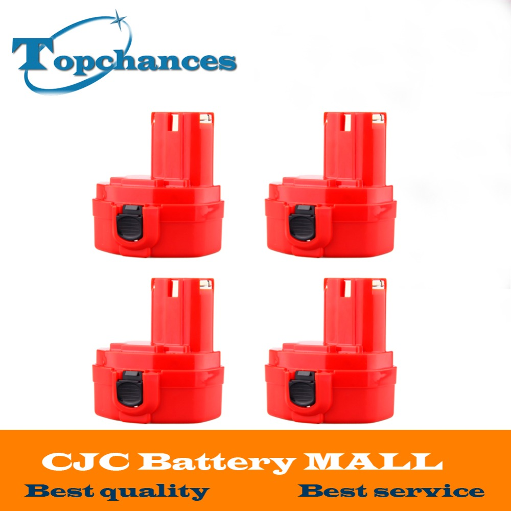 4Pcs <font><b>14.4V</b></font> 2000mAh Replacement Battery for Makita 1420 1422 1433 1434 1435 1435F 4000 6000 Series 192699-A 193158-3 image