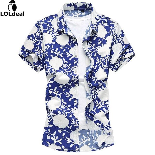 Bloemen Overhemd.Merk Mannen Bloemen Overhemd Zomer Plus Size Casual Print Mode