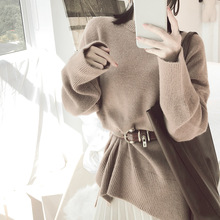 Autumn And Winter pullover sweater women Korean Solid Color alpaca wool blended thick long sleeve ladies pullover sweater fm9110