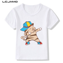 LCJMMO 2017 Summer Cute Cartoon Children T-shirts For Kids Girls Boys Short sleeve Print Cat T shirts Tops Baby Clothes 3-9Years
