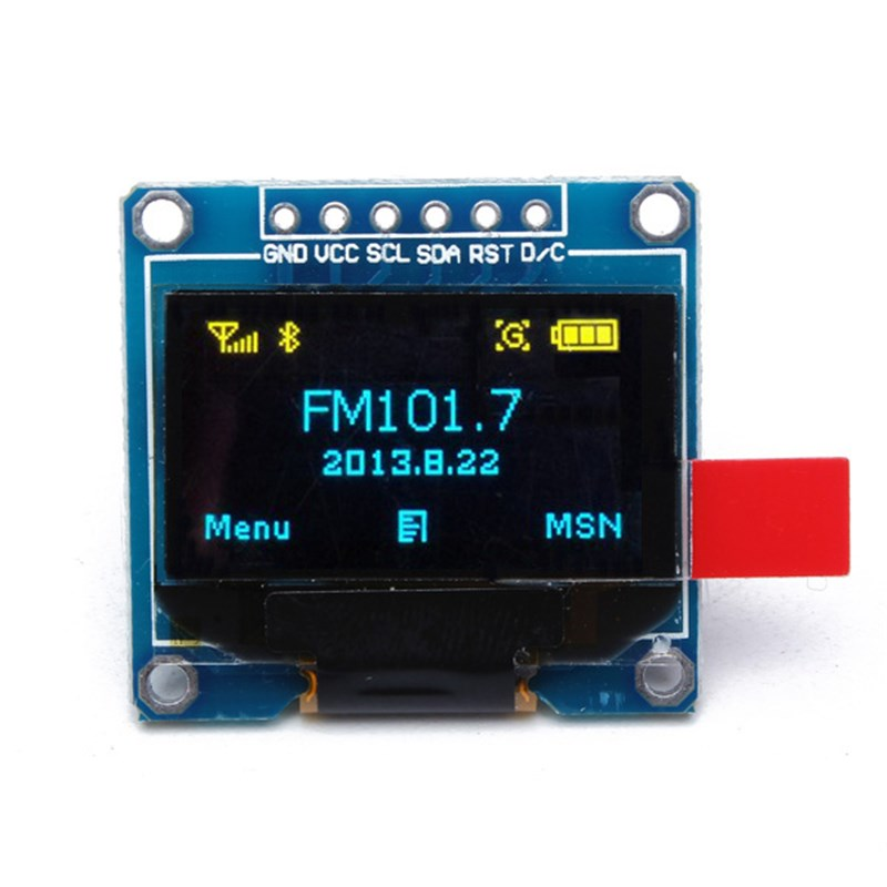 1PC 6Pin 12864 0.96 Inch SPI Yellow Blue LCD Display Module For Arduino OLED Internal Drive Chip SSD136 29.28 x 27.1 mm (LW)