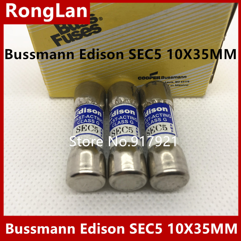 [ZOB] Bussmann Edison SEC5 from the United States imported 10X35 600V FUSE insurance tube  --10PCS/LOT
