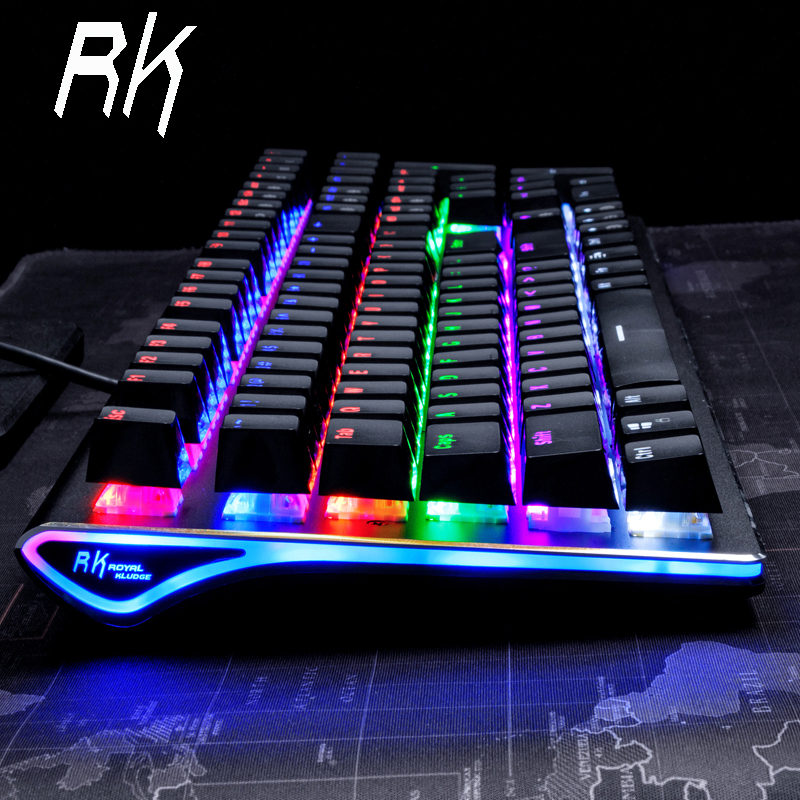 Royal Kludge RK Side 108 108 Keys RGB USB Wired Mechanical Gaming Keyboard Brown Switch AKRO - Brown Switch Professional Edition k61 61 key rgb bluetooth wired multi device mechanical keyboard brown switch