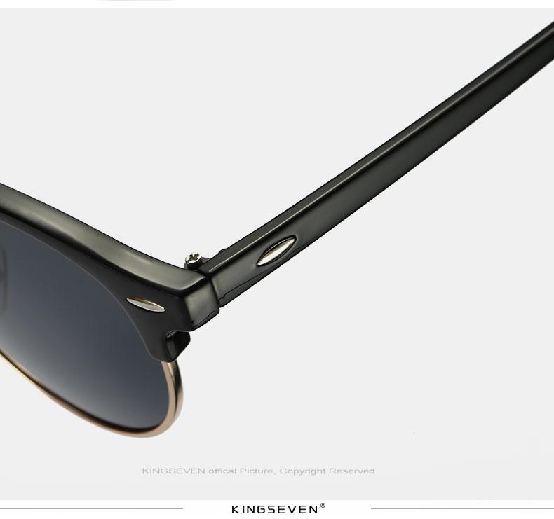17 KINGSEVEN Retro Rivet Polarized Sunglasses Women Classic Brand Designer Sun glasses Eyewear Bridge Frame Oculos Gafas N7346 13