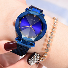 2019 Women Watches Luxury Diamond Gold Ladies Watch Starry Sky Watches For Women Fashion bayan saati Diamond Reloj Mujer Clock цена и фото