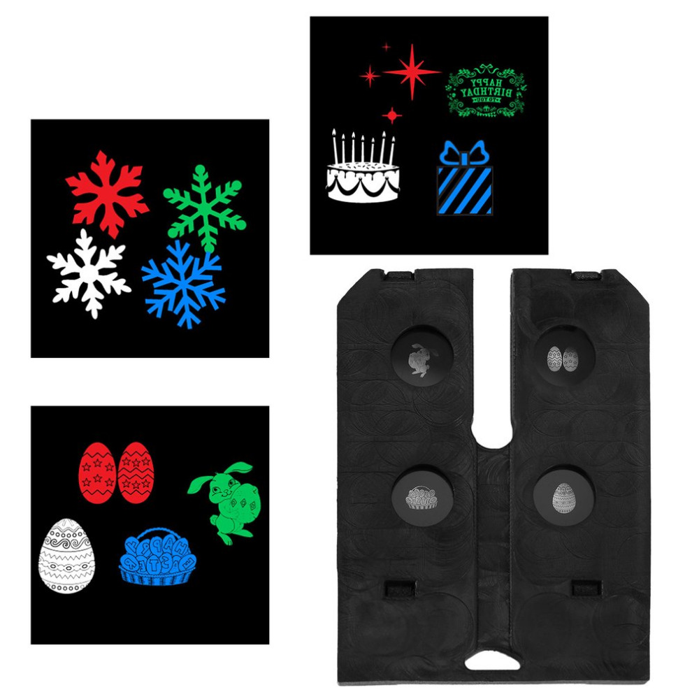 Pattern Card For Outdoor LED Lawn Lamp Switchable Cards Replacement Pattern Change Party Decoration As Gift New Lighting