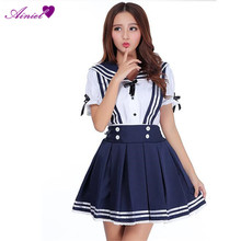 Japan School Uniform Costume Anime Girl Maid Sailor School Lolita Sexy Dress  women Vestidos  CS09260