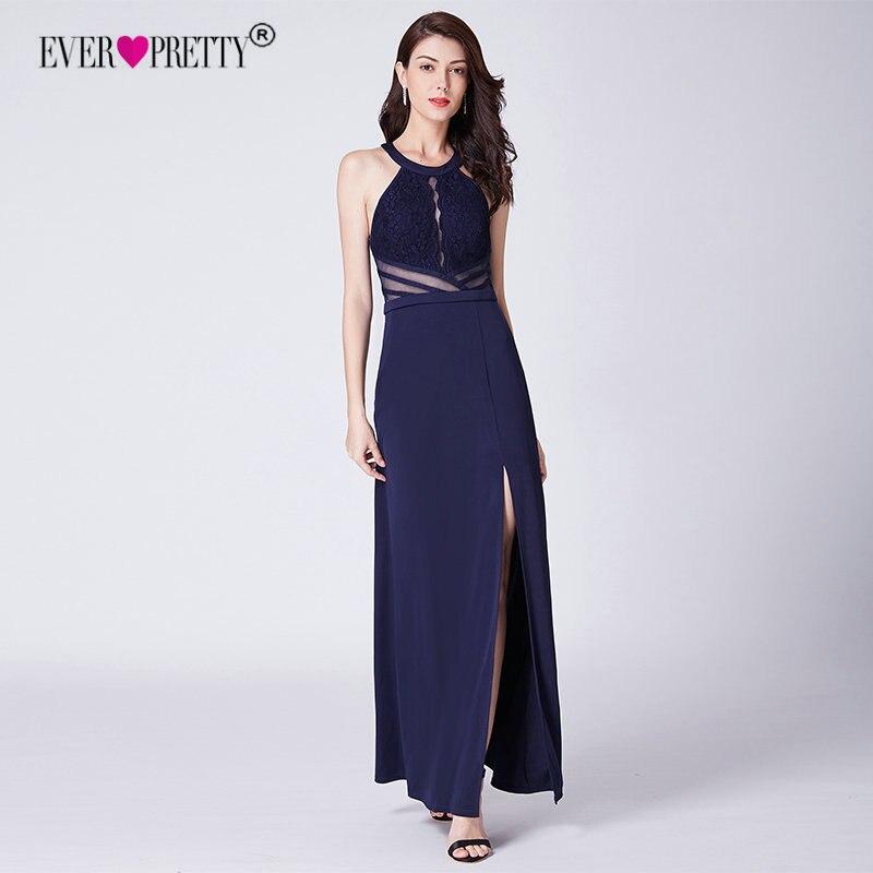1723ee125f2 Navy Blue Evening Prom Dress Ever Pretty EP07390NB Vestidos De Fiesta  Elegant A Line Off Shoulder Cut-Out Formal Gowns With Slit