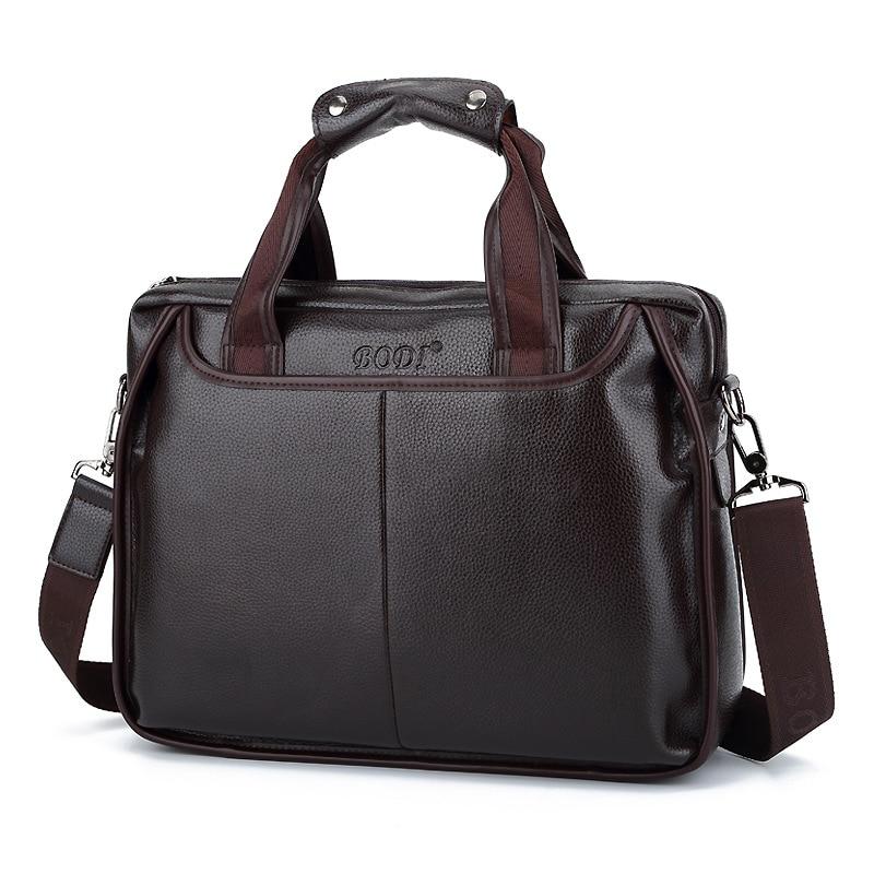 Men's Briefcase Tote Computer-Handbag Messenger-Bag Business Casual Luxury New Boy Male