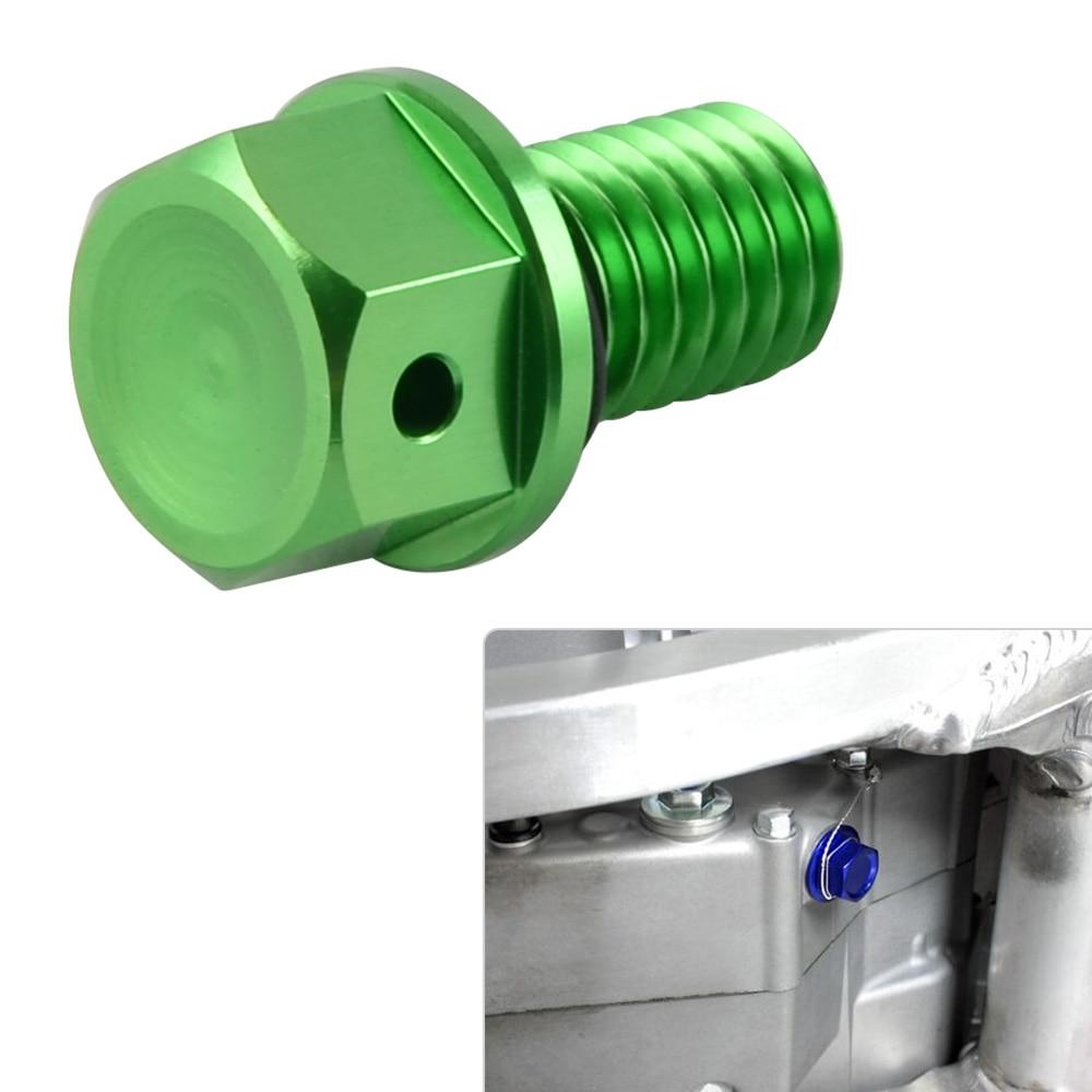 NICECNC M10xP1.5 Oil Drain Plug Bolt Screw For Kawasaki KX 65 85 100 125 250 250F 450F KLX250 D-Tracker 250SB Ninja 250SL KX125